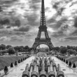 Tour Eiffel, Paris. Wonderful view of famous Tower from Trocader — Stock Photo #25391115