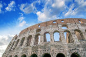 Beautiful sunset sky colors over Colosseum in Rome. Roma - Colos — Stock Photo