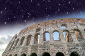 Rome. Colosseum with Stars — Stock Photo