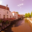 Architecture and Colors of Bruges — Stock Photo