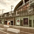 Stock Photo: LONDON - SEP 20. Exterior of Arsenal FC Emirates Stadium, result