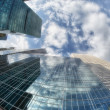 Stock Photo: New York City buildings, upward view