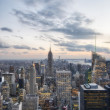 Foto Stock: New York City sunset skyline