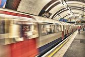 LONDON - SEP 28: London Underground train station on September 2 — Stock Photo