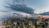 New York City sunset skyline — Stock Photo
