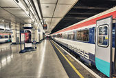 LONDON - SEP 28: London Underground train station on September 2 — Stock Photo