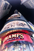 NEW YORK - APRIL 1, 2011: Night ads across Times square on April — Stock Photo
