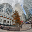 LONDON -SEP 27:A view of Canary Wharf won September 27 2012 in L — Stock Photo #25695071