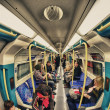 LONDON - SEP 29: View of Underground station, September 29, 2012 — Stock Photo