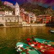 Stock Photo: Cinque Terre, Italy. Wonderful scenario in spring season