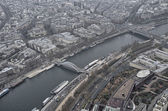 Paris. Gorgeous aerial view of city skyline in winter — Stock Photo