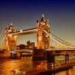 Stunning view of famous Tower Bridge in the evening - London — Stock Photo
