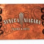 NIAGARA FALLS, USA - AUG 27: Seneca Niagara Hotel card, August 2 — Stock Photo
