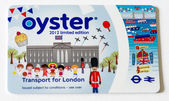 LONDON - SEP 28: A TFL Oyster Card, September 28, 2012 in London — Stock Photo