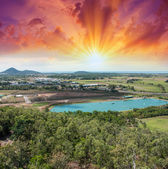 Spectacular aerial view of Queensland Countryside in winter — Stock Photo
