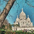 Stock Photo: Paris. Wonderful view of Sacred Heart Cathedral. Le Sacre Coeur