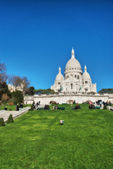Paris. Wonderful view of Sacred Heart Cathedral. Le Sacre Coeur — Stock Photo