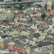 Bergen, Norway. Beautiful aerial city view in summer season — Stock Photo