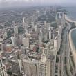 Stock Photo: Wonderful aerial view of Chicago