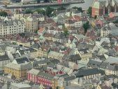 Bergen, Norway. Beautiful aerial city view in summer season — Stock Photo