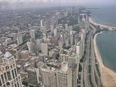 Wonderful aerial view of Chicago — Stock Photo