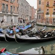 Stock Photo: VENICE - MAY 17: Gondoliers navigate on Venice canals mornin