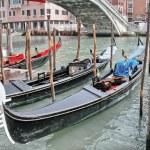 Beautiful romantic Venetian scenery with classic Gondola — Stock Photo #26200937