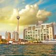 Beautiful skyline of Toronto from Lake Ontario - Canada — Stock Photo
