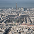 Stock Photo: Paris. Aerial view of famous Eiffel Tower. LTour Eiffel