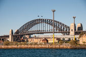 Sydney Harbour Bridge, wonderful winter view at sunset — Stock Photo