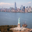 Beautiful aerial view of Statue of Liberty - New York City — Stock Photo #26923745