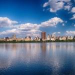 Nova York - vista panorâmica dos edifícios modernos da central — Foto Stock