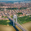 Wonderful aerial view of George Washington Bridge, New York City — Stock Photo #27061835