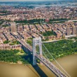 Wonderful aerial view of George Washington Bridge, New York City — Stock Photo