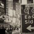 East Side Bike Path sign in Times Square, New York City — Stock Photo