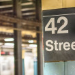 42 st subway sign in New York City — Stock Photo