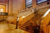NEW YORK CITY - JUN 10: Grand Central main Concourse srairs on J — Stock Photo