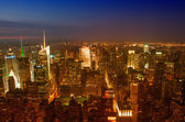 Manhattan, NYC. Spectacular sunset view of Bryant Park and Midto — Stock Photo