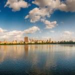 vista panoramica di central park nella stagione estiva, nyc — Foto Stock
