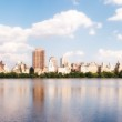 bela vista panorâmica do central park, na temporada de verão, nyc — Fotografia Stock  #27437337