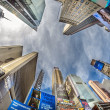 NEW YORK CITY - FEB 24: Street view of Times Square Skyscrapers — Stock Photo