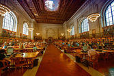 NEW YORK CITY - JUN 13: New York Public Library is one of the largest public library in North America. — Stock Photo