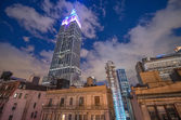 NEW YORK CITY - JUN 8: Night view of the Empire State Building — Stock Photo