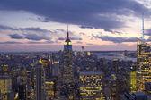 Sunset over New York City Skyscrapers — Stock Photo