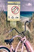Détail de la plage de miami — Photo