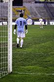 Ver partido de fútbol portero — Foto de Stock