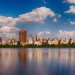 bela vista panorâmica do central park, na temporada de verão, nyc — Foto Stock