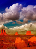 Wonderful view of famous Buttes of Monument Valley at sunset, Ut — Stock Photo