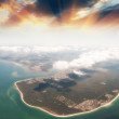 Spectacular Aerial view of Queensland Coast, Australia — Stock Photo