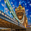 Beautiful lights of Tower Bridge in London — Stock Photo